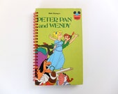 JOURNALS   Upcycled Story Book   Peter Pan and Wendy   Blank + original pages