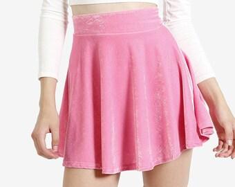 DEADSTOCK Velvet Baby Pink Skirt