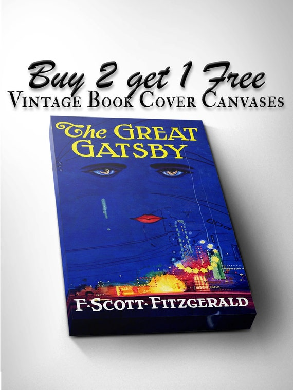 Classic Book Covers On Canvas : Vintage canvas literary book cover prints by daretodreamprints