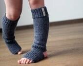 Alpaca wool knit leg warmers, dark gray, beige, white knitted leg warmers for baby, infant, toddler, children, kid boot socks, yoga socks