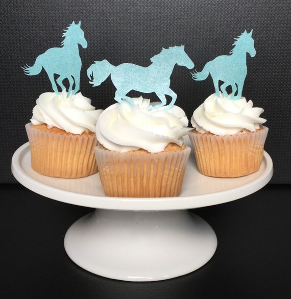 Horses Cupcake Toppers Edible Horse party Western by ...