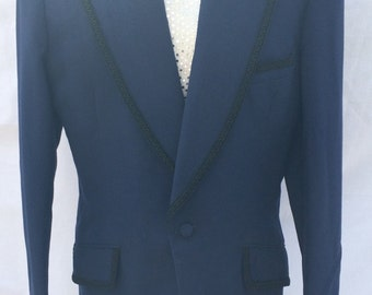 Men's vintage 1970's Blue evening jacket (UK M-L)