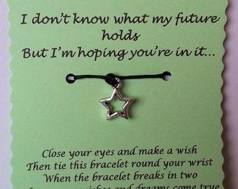 Boyfriend gift, Boyfriend Wish Bracelet, Boyfriend Jewelry, Gift Boyfriend, Gift for him, Boyfriend birthday gift, Boyfriend Card, Boyfriend