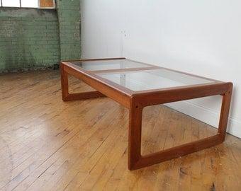 danish teak table | etsy