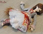 OOAK set of clothes -Boho chic -MSD-BJD - Dolls corset