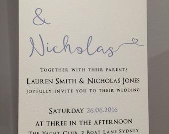 Printable Simple Wedding invitation | elegant wedding invitation | printable wedding invitation | calligraphy wedding invite
