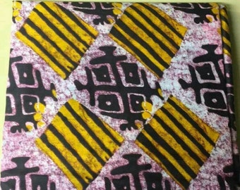 Multicolor Print 100% Cotton African Fabric for clothes/Pillows/Quilt ALL 6 YARDS Sew/African Fashion/Textile