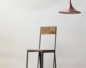 INDUSTRIAL Oak/Steel Stool, bar stool, cafe, resturant, kitchen bar, Bar Chair