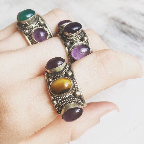 Boho Amethyst Thumb Ring Nepali Style Ring Boho Ring Silver. Bloodstone Rings. Eczema Rings. Engineer Rings. Teardrop Black Diamond Wedding Rings. Stag Head Engagement Rings. Classical Wedding Engagement Rings. 0.8 Carat Engagement Rings. Piece Rings