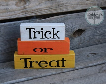 Trick or Treat: Halloween Stacking Blocks