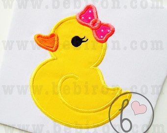 Rubber Duck Girl Applique Design Machine Embroidery Pattern Instant Download