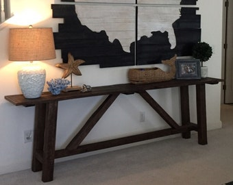 Reclaimed Wood Sofa Table - Farm Style