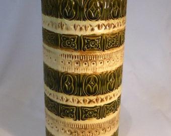 Scheurich Fat Lava floor vase in Cream/green - original from the 1960s