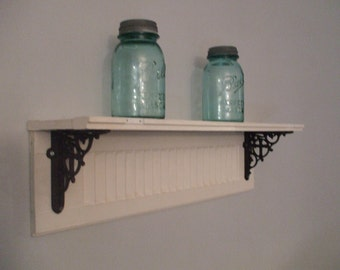 Vintage Salvage Shutter Shelf