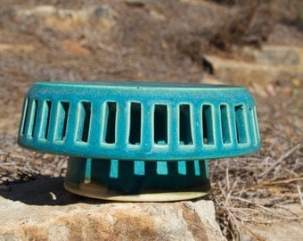 Turquoise Cake stand (small)