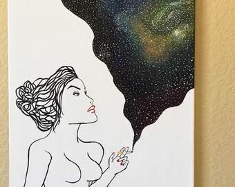 Smoke Galaxy Print