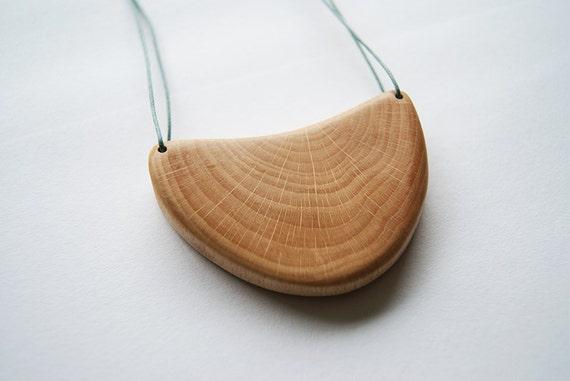 Branch necklace oak wood statement unique reuse