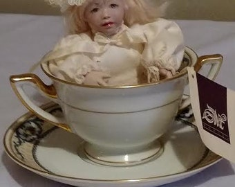 Tea Cup Katie LE No. 18 of 50 Porcelain Doll from Monika