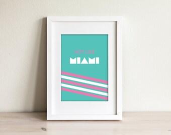 Miami Vice Poster - Print Wall Art - Home Decor - Digital Download - 24x36