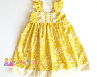 Mustard yellow dress etsy
