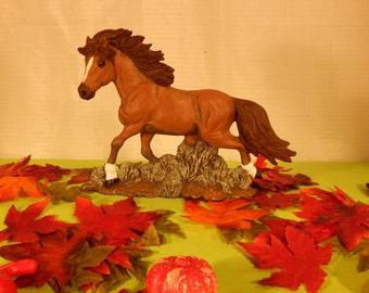Ceramic Horse, Stallion, Running