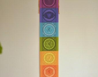 Chakra banner - Chakra wall art - Chakra - yoga - Chakra flags - chakra art - Meditation gift - Yoga gift - chakra wall hanging - chakras