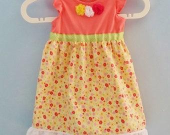 Toddler Dress, Girls Dress, Floral Pillowcase Dress, Ready to Ship, Sundress, Repurposed Dress