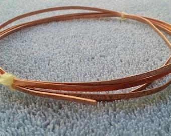Flat Copper Wire 3mm X 0.75mm Five Feet Long