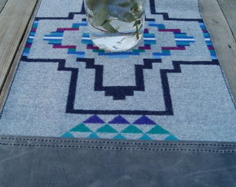 Pendleton Wool & Leather Table Runner