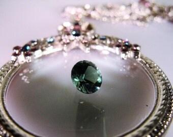 Loose Gemstone - Gorgeous Dark Green Natural Genuine Round Tourmaline Loose Gemstone – 6.5mm