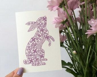 Bunny Rabbit Papercut Card