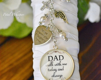 Bridal Bouquet Charm-Wedding Bouquet Charm-Wedding Memorial-In Memory Of Dad-Bridal Gift-Gift For Bride-Walk With Me Dad