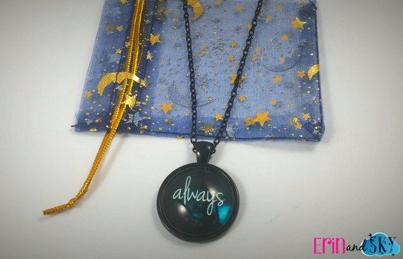 Always Necklace - FREE SHIPPING - Harry Potter Inspired Severus Snape and Lily Potter Jewelry Pendant Gift - Potterhead Necklace - HP Gift