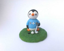 Unique Penguin Cake Topper Related Items Etsy