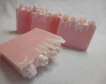 Amazing Style SOAP LOAF - White Musk Soap - Pink Wedding Favors - Floral Soap Loaf - Pink Floral Soap - Goats Milk Gift Soap - Soap For Her