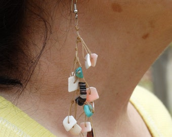 Native American Made Turquoise and Shell Earrings