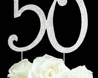 Number 30 40 50 Rhinestone Cake topper 40th Birthday Vow renewal 40th anniversary cake decoration Bling