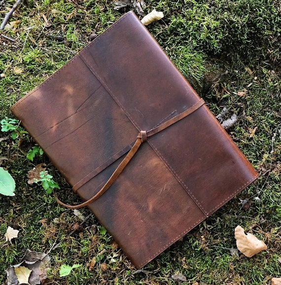 Leather Refillable Composition Notebook Case