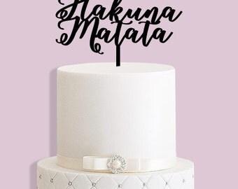 Hakuna Matata Lion King Cake Topper