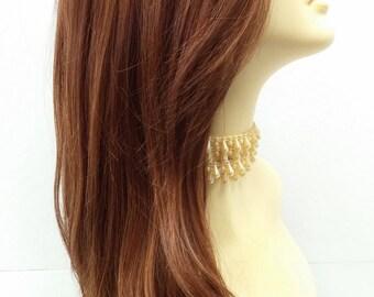 Long 24 inch Straight Light Auburn w/ Strawberry Blonde Heat Resistant Wig. [50-271-Emily-30/27]