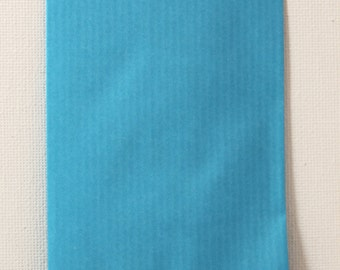 Lot of 10 kits gifts turquoise blue kraft 7 x 13.5 cm - bag