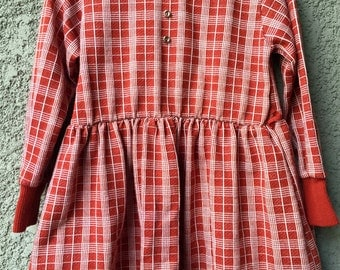 Plaid Orange baby dress