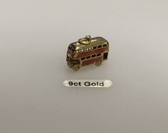 London Bus 9ct Gold Charm