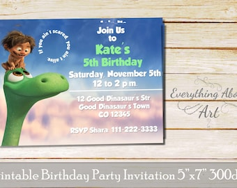The good dinosaur birthday Invitation, Arlo& Spot invitation, the good dinosaur party , The good dinosaur invitations, Printable invitations