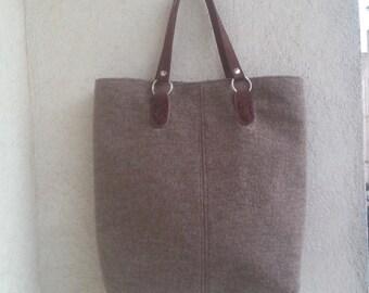 SALE, wool tote bag, elegant tote bag, large tote, italian handmade bag