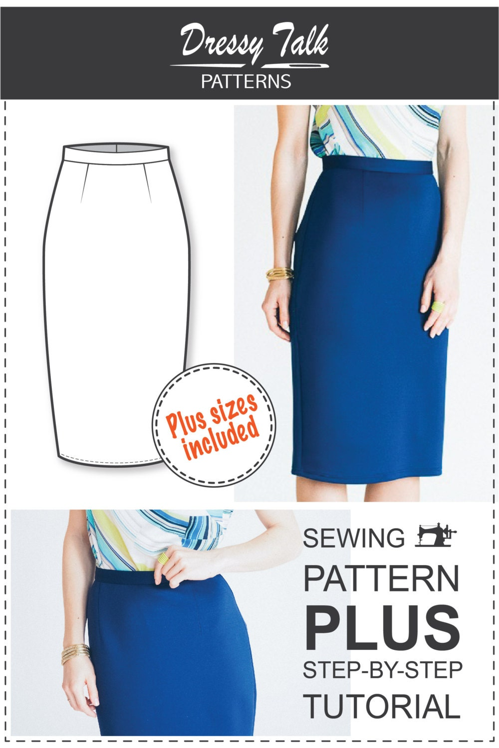 Pencil Skirt Sewing Pattern 104