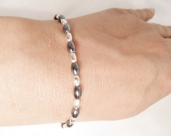 Beautiful Hematite Sterling Silver 925 Bracelet