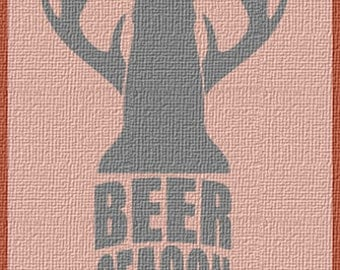 Beer Deer Season SVG/DXF/PNG - Hunting, Cricut, Cameo, Cutable