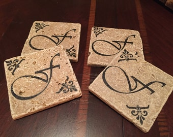 4x4 natural stone tile coasters