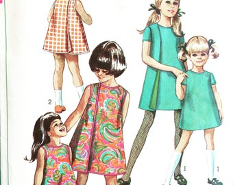 1960's Vintage Sewing Pattern Girl's Wrap-Around Dress
